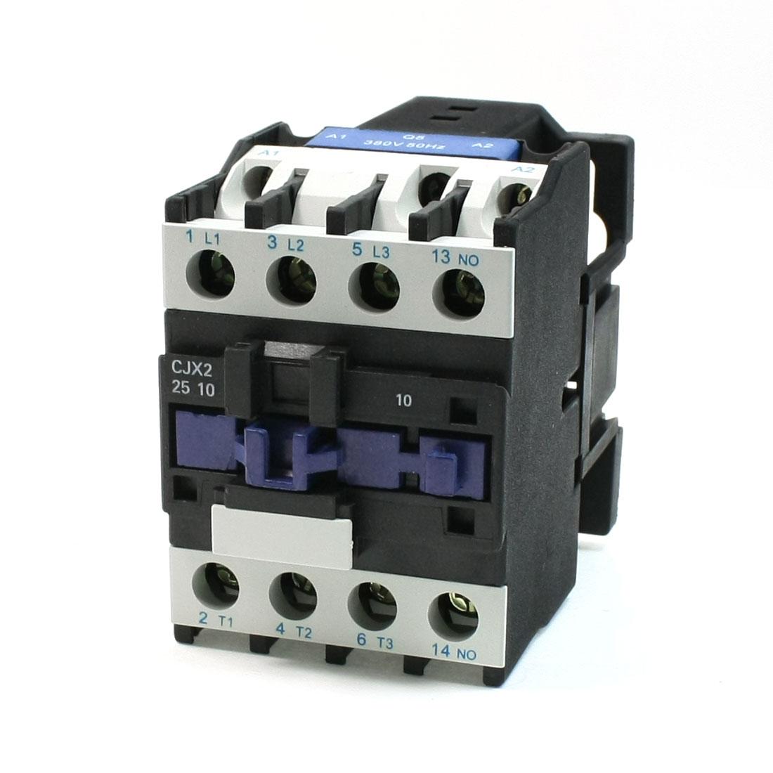 CJX2-25 380V Coil 40A DIN Rail 3P Three Pole 1NO 1NC AC Contactor