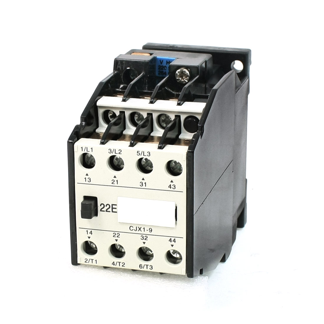 660V 20A 3 Phase 3P 2NO+2NC AC Contactor DIN Rail Mount 220V Coil CJX19/22