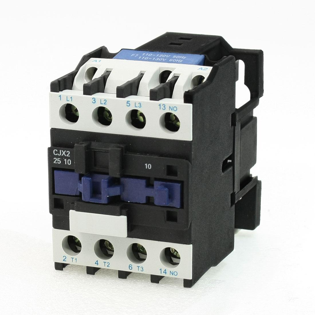 110V 40A 50/60Hz 3 Phase Coil Motor 1NO AC Contactor CJX2-25