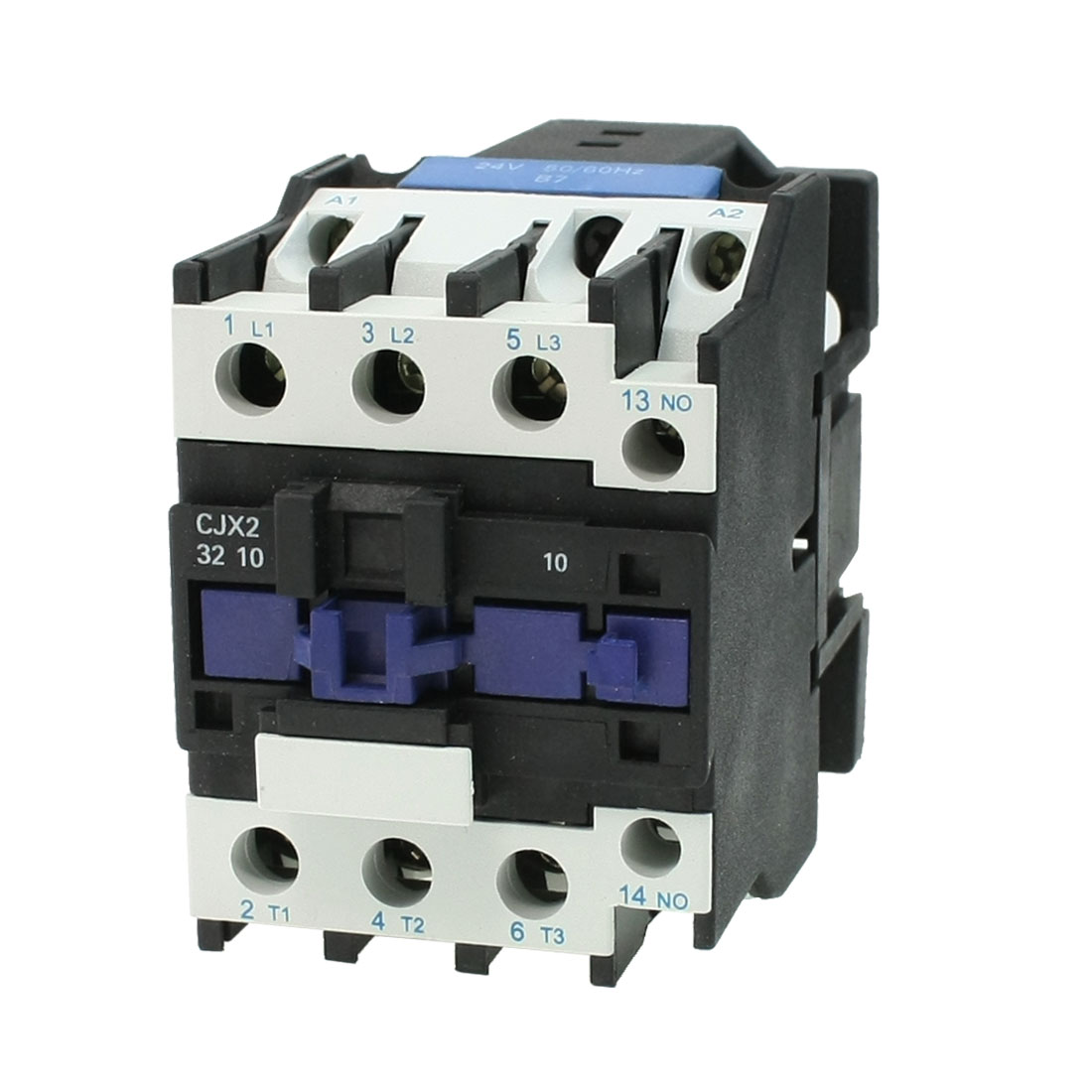 CJX2-32 380V Coil 50A DIN Rail 3P Three Pole 1NO 1NC 24V AC Contactor