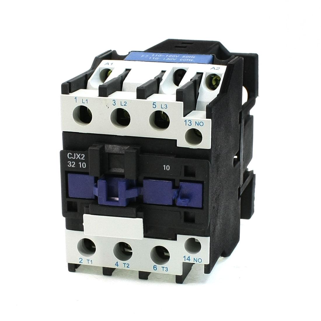 50/60Hz 220V 50A 35mm DIN Rail 3P 1NO 1NC 110V AC Contactor CJX2-32
