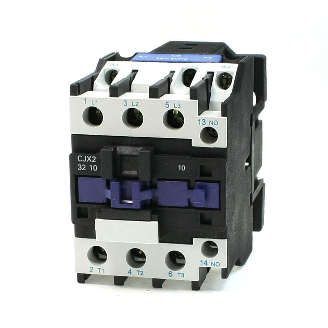 380V 50A 50/60Hz 3 Phase 36V Coil Motor 1NO 1NC AC Contactor CJX2-32
