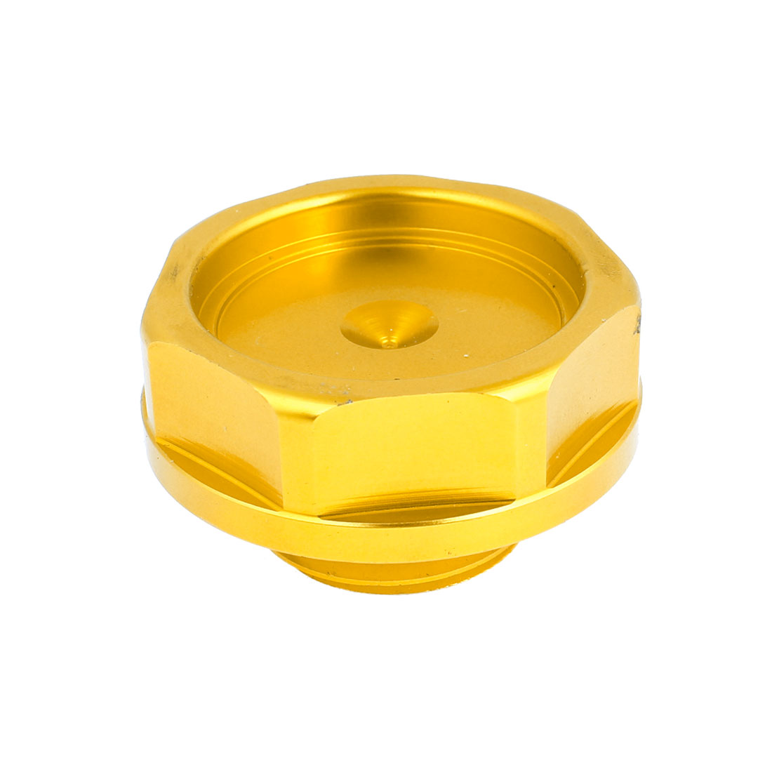 32mm Dia Gold Tone Metal Engine Oil Filler Cover Cap for Car Auto