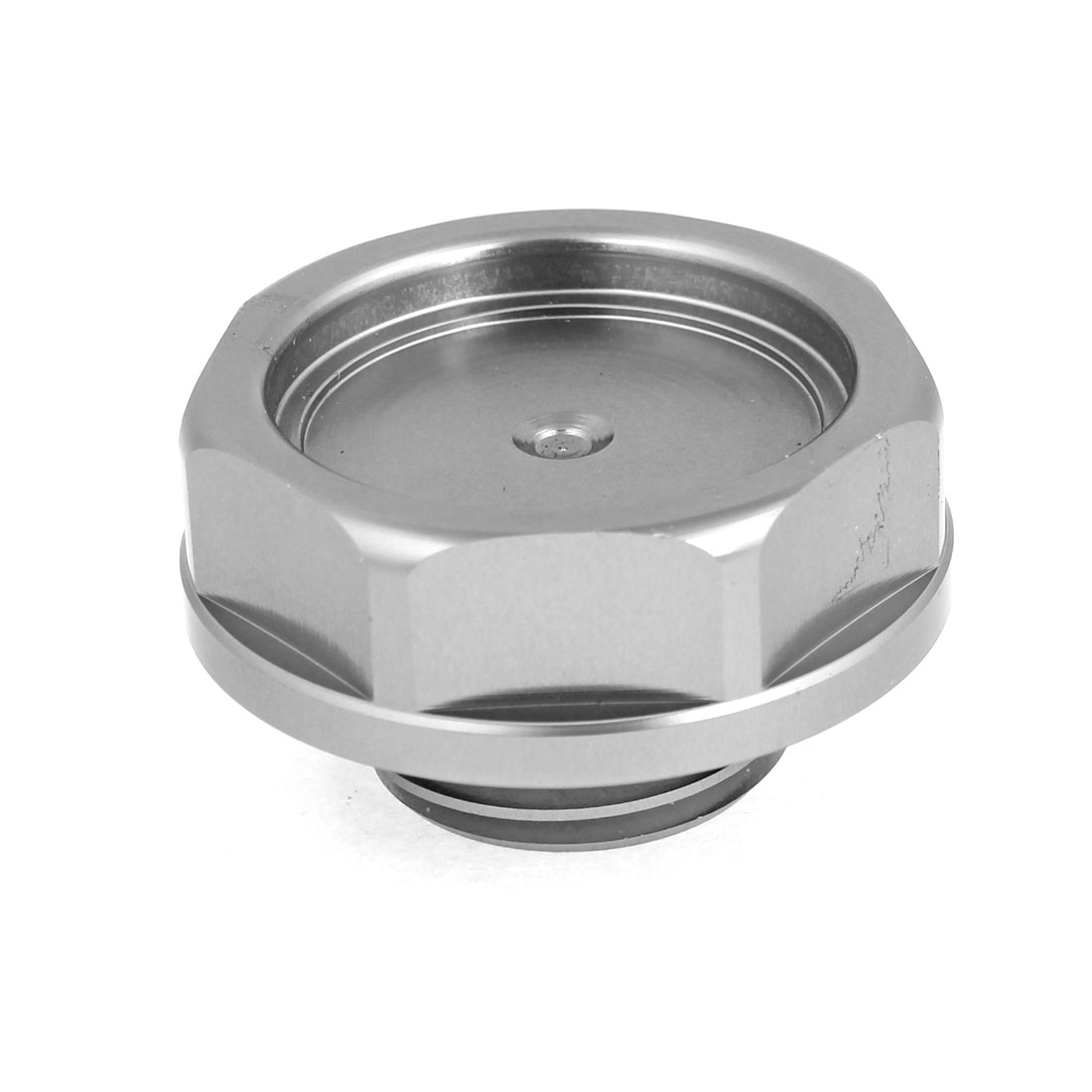 32mm Dia Gray Metal Safety Engine Oil Filler Cover Cap for Car Auto