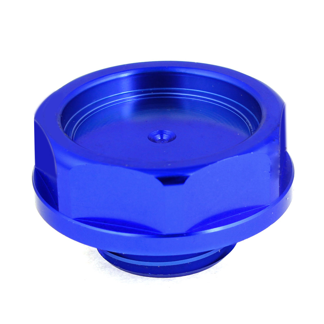 "1.3"" Threaded Metal Engine Oil Filler Fuel Cover Cap Royal Blue for Car"
