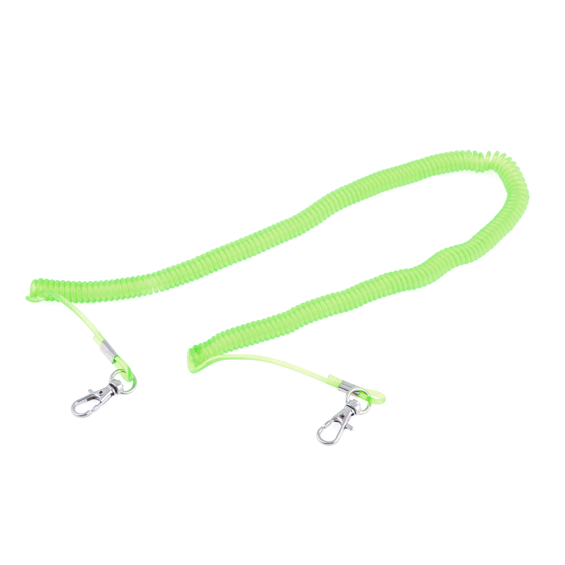 16.4Ft Retractable Stretchy Coiled Fishing Lanyard Rope String Light Green