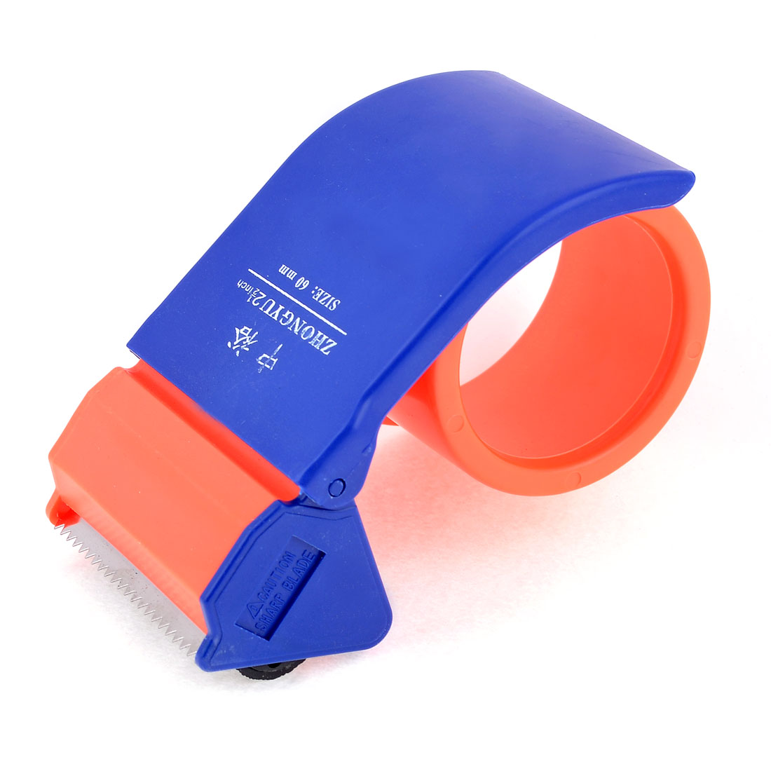 "Handheld Package Tool 2.5"" Adhesive Tape Dispenser Cutter Orange Red Blue"