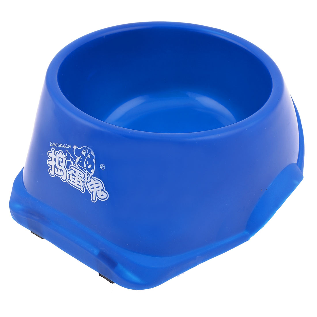 "Blue Plastic Feeed Pet Cat Dog Bowl Food Water Container 8.3"" Diameter"