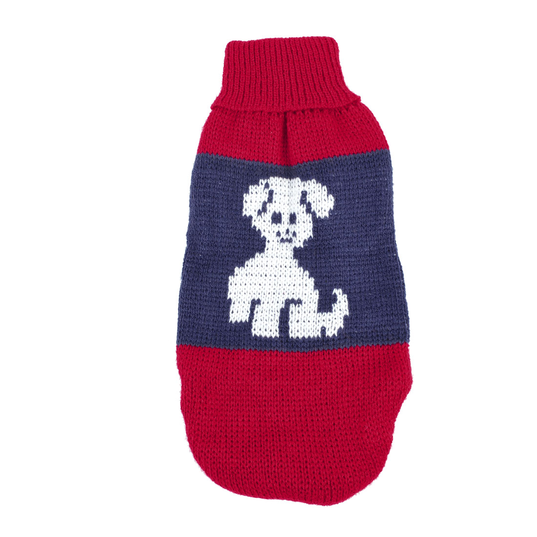Winter Dog Pattern Knitted Coat Pet Yorkie Clothing Puppy Sweater Red Blue XS