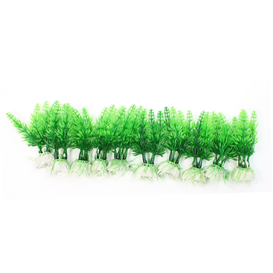 "10Pcs 3.9"" High Underwater Plastic Plants Grass for Fish Tank Aquarium"