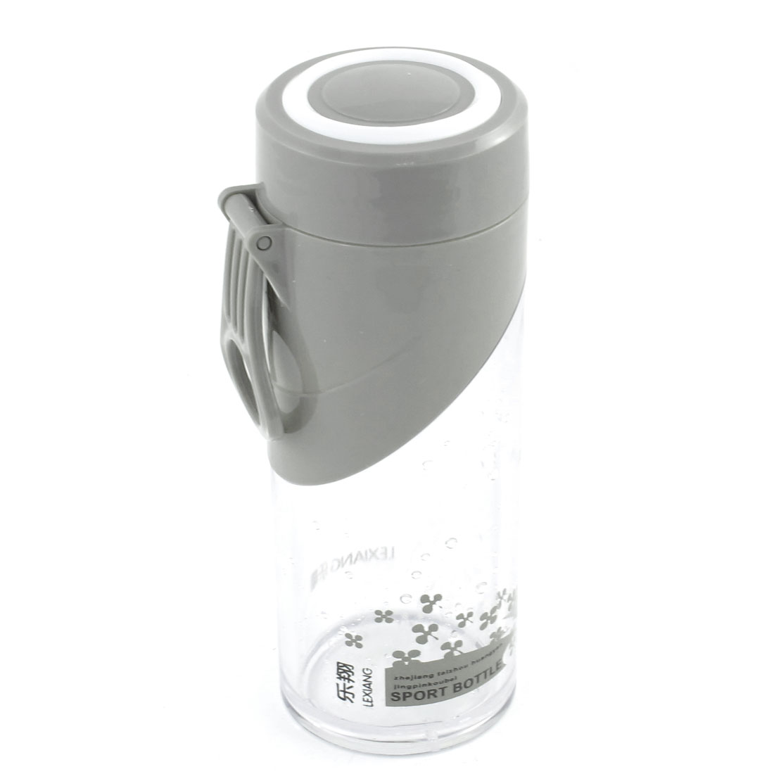 Home Office Water Container Clear Gray Drinking Water Cup Bottle 390mL