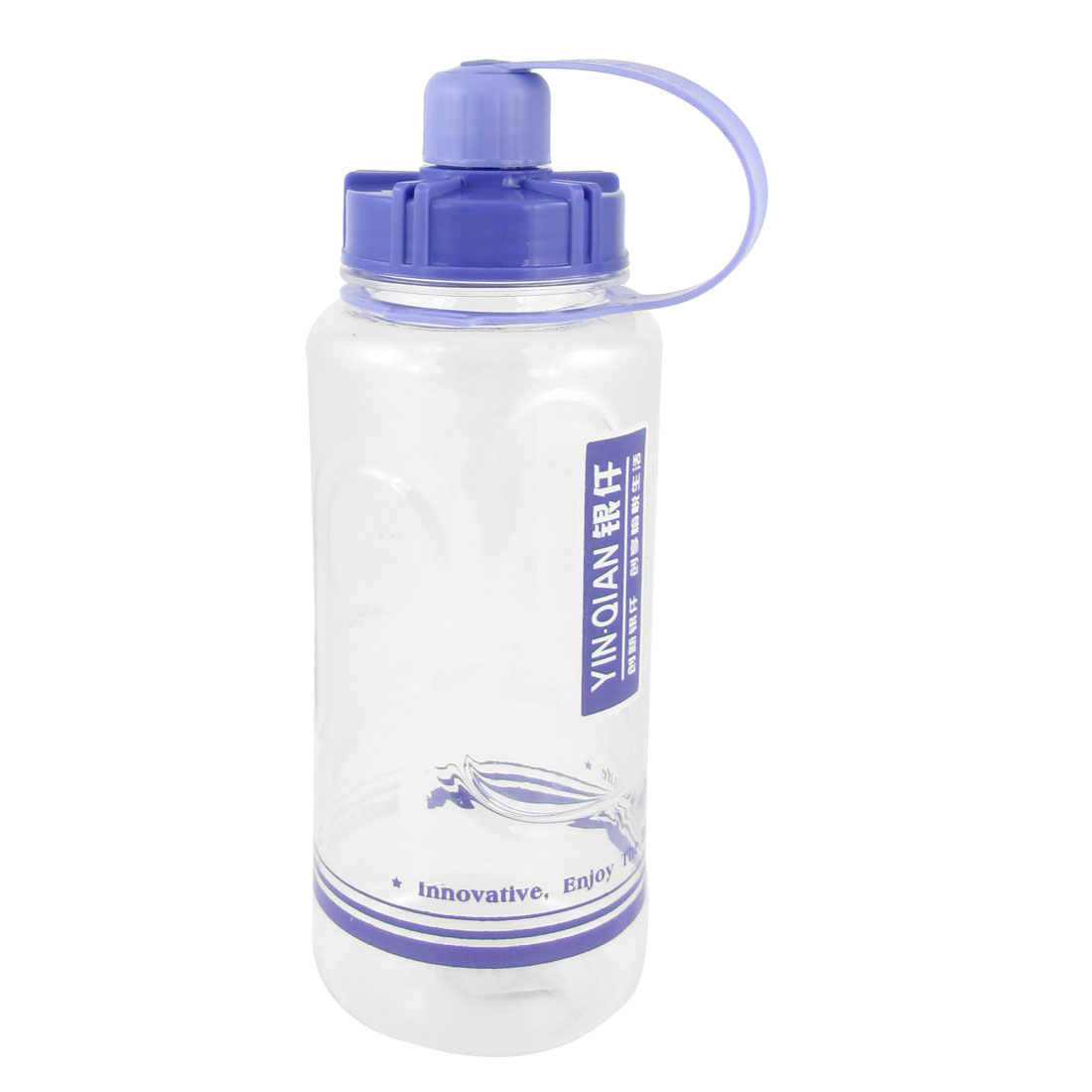 Light Blue Clear Handheld Plastic Travel Sports Water Bottle 1000ml