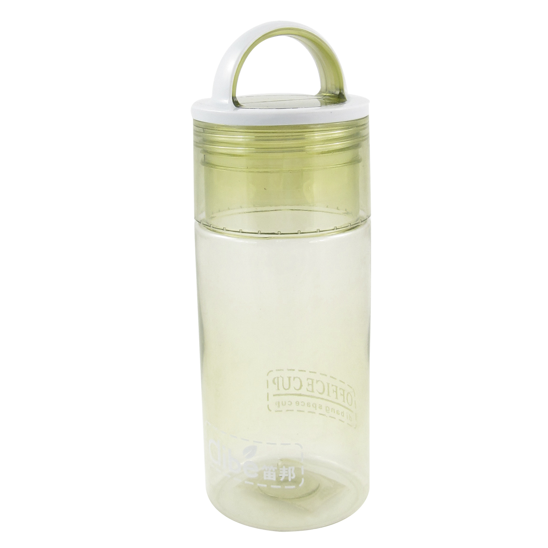Clear Army Green White Protable Hiking Traveling Water Bottle 400ml