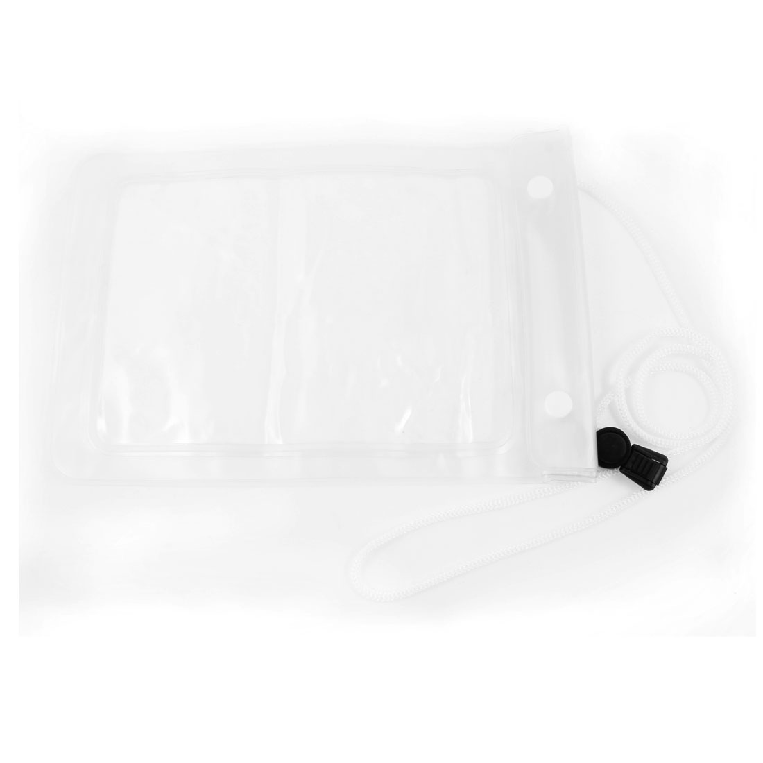 Clear Water Proof Bag Pouch w White Neck Strap for iPad Mini