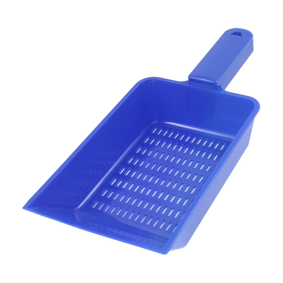 Aquarium Fish Tank Plastic Multihole Shovel Sand Scraper Scoop Pan Blue