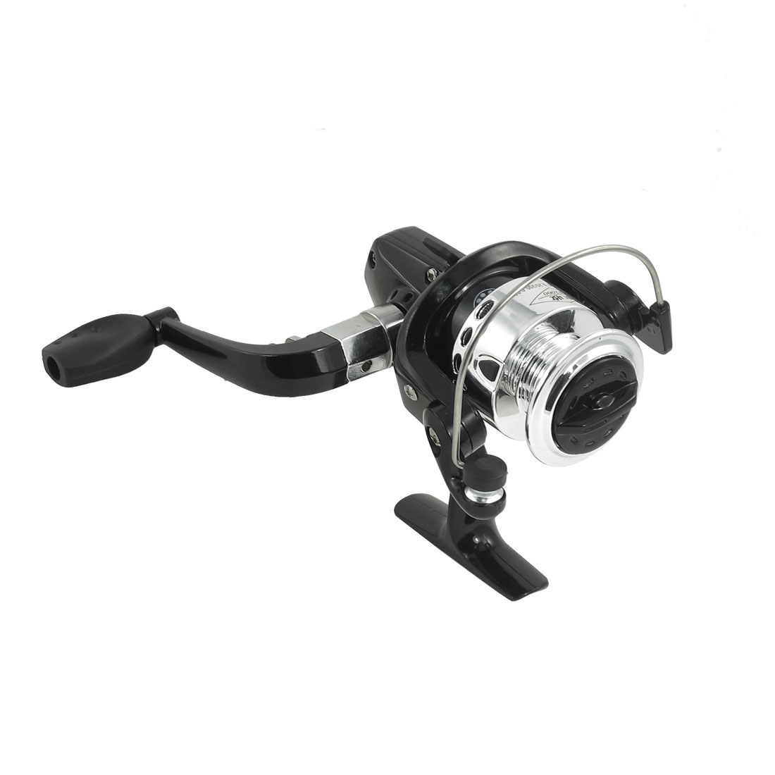 Silver Tone Black Fishing 3 Ball Bearing Gear Ratio 5.2:1 Spinning Reel