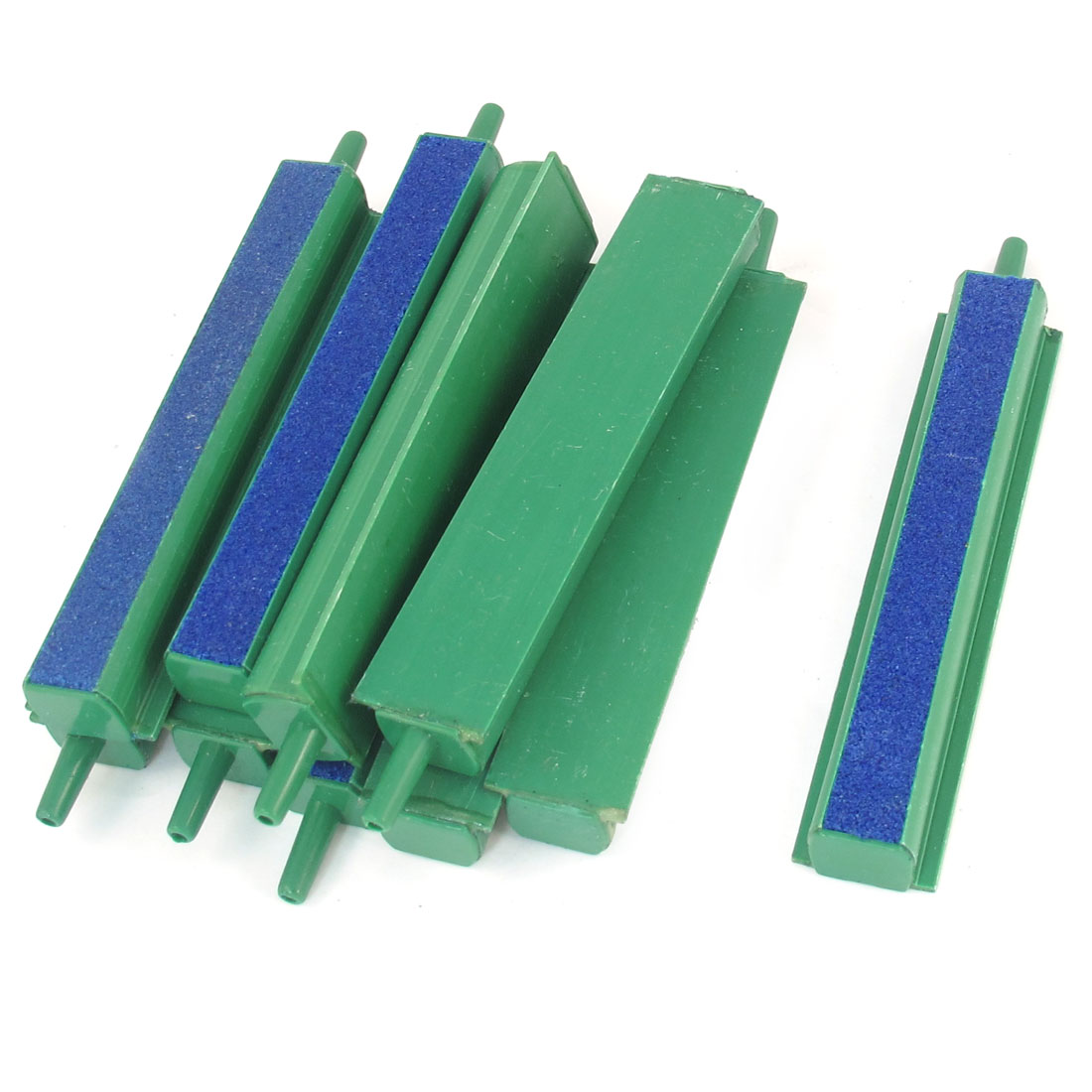 "10 Pcs Aquarium Fish Tank Air Bubble Release Airstone Bar 3.9"" Green Blue"