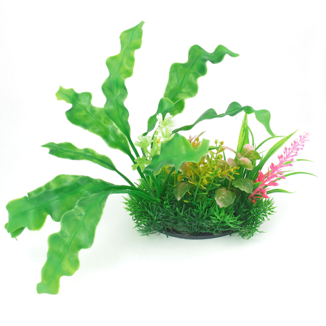 "Aquarium Tank 8.3"" Height Manmade Water Plant Flower Decoration Green"
