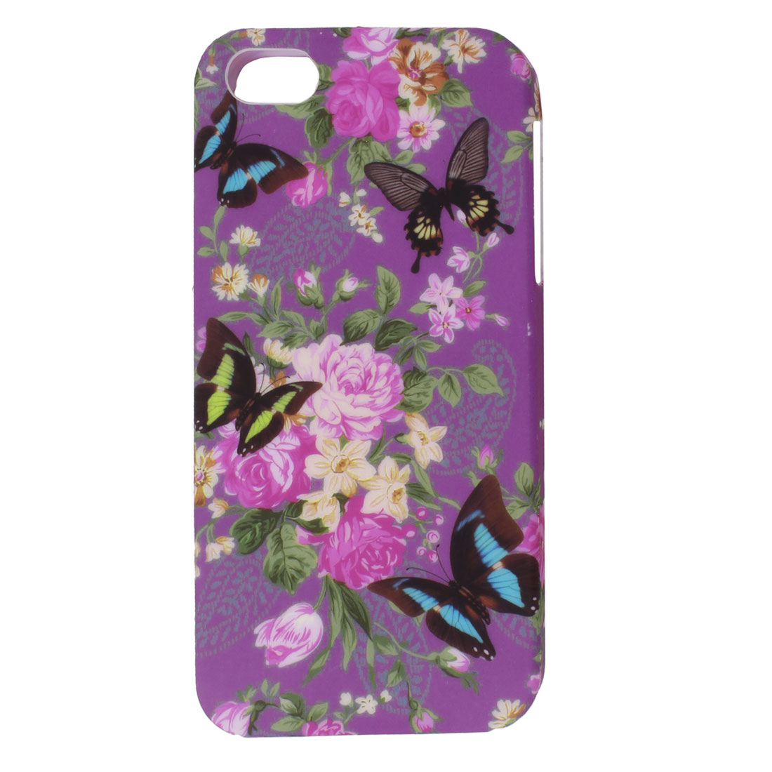 Colorful Butterfly Flower Pattern TPU Soft Case Cover for Apple iPhone 5 5G