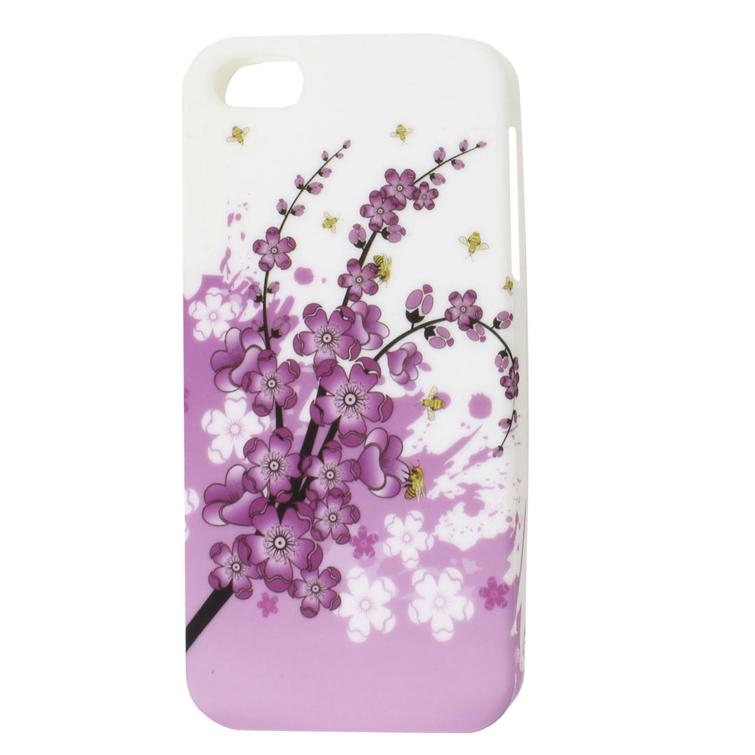 Pink Plum Flower Branch White TPU Soft Case Cover for Apple iPhone 5 5G