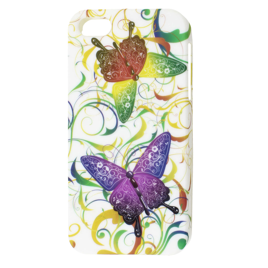 Colorful Butterfly Swirl Pattern TPU Soft Case Cover for Apple iPhone 5 5G