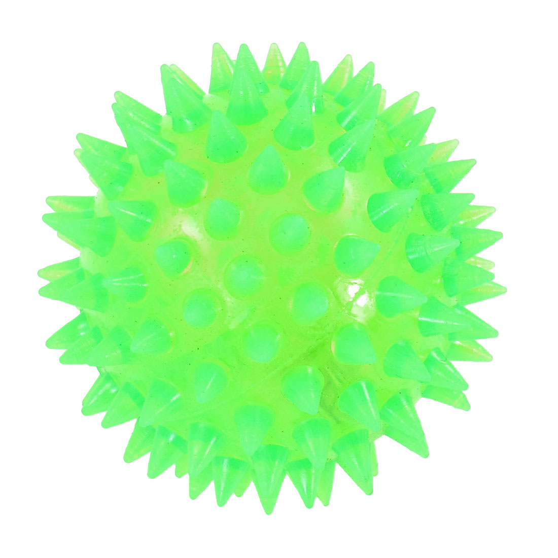 Green Textured Ball Shaped Squeaky Chew Toy for Pet Dog Cat Puppy Yorkie