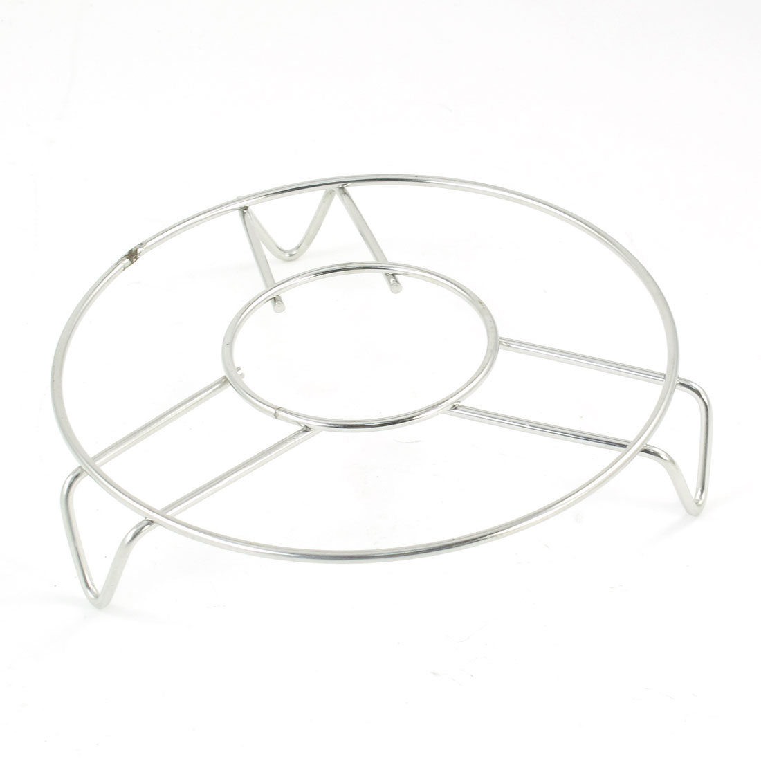 "Home Cooking 5.4"" Dia Silver Tone Three Legs Steamer Rack Stand"