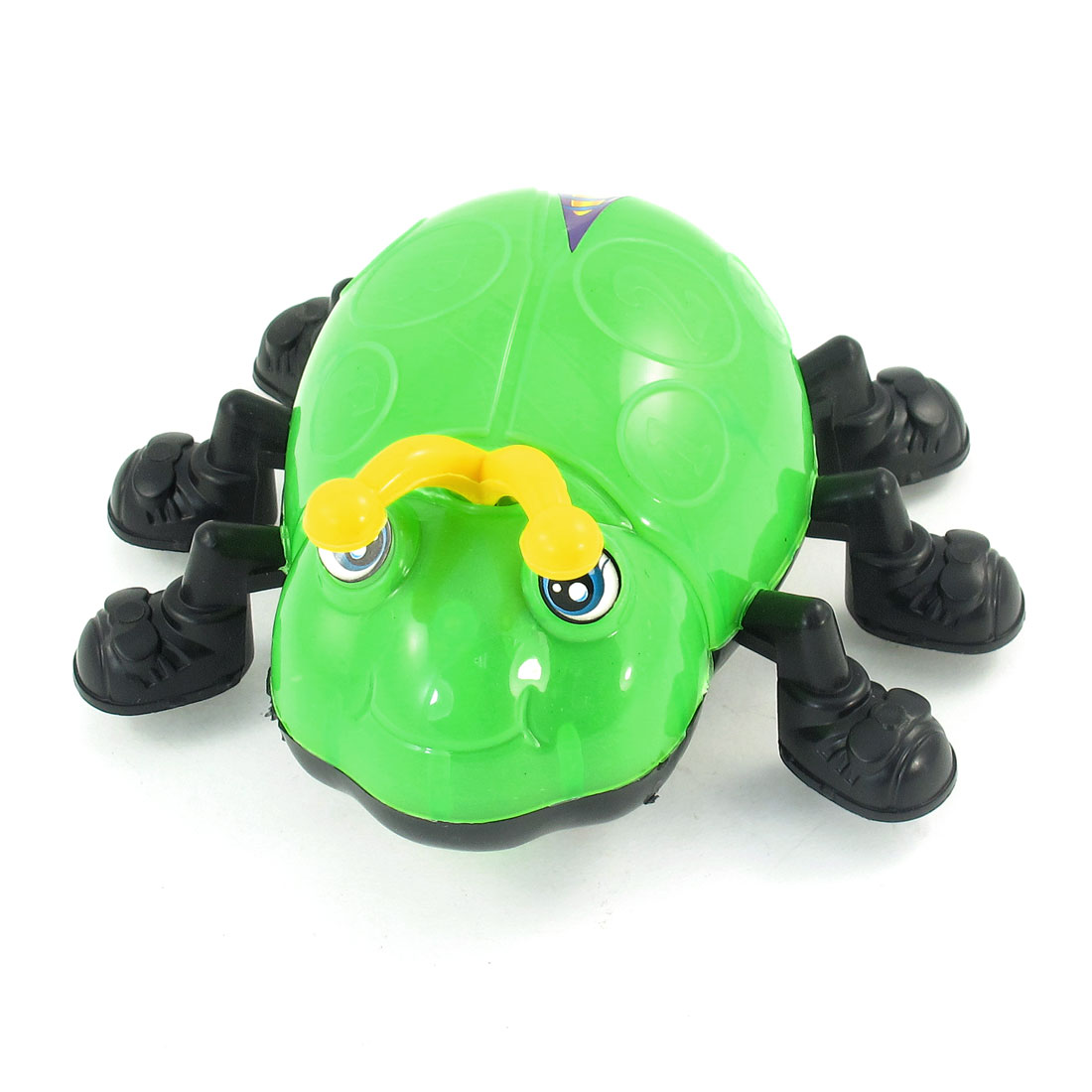 Children Gift Plastic Body Double Wheels Bug Design Pull String Toy Green
