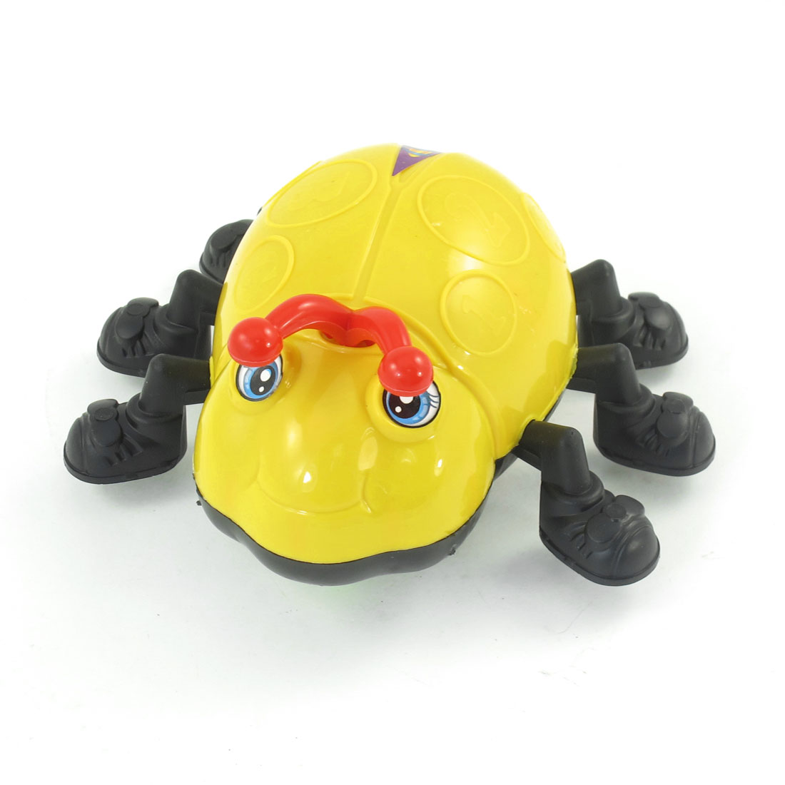 Children Gift Hard Plastic Yellow Bug Design Running Wheels Pull String Toy
