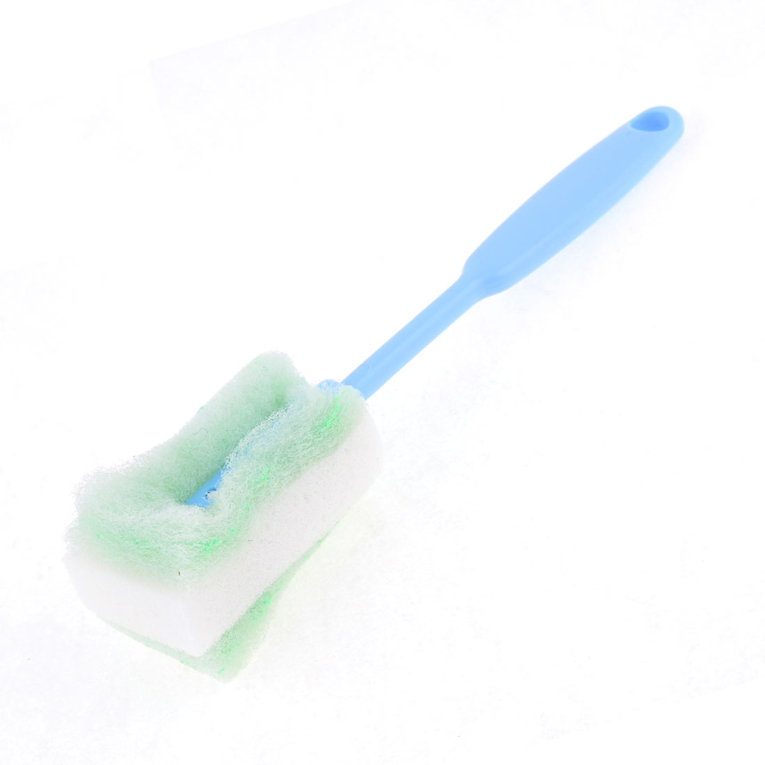 "Home Blue Grip Green White Sponge Tip Cleaning Glass Cup Washing Brush 9.6"" Long"