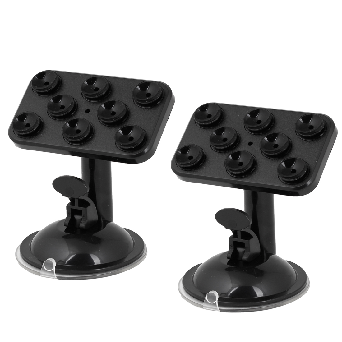 2 Pcs Black Adjustable Mobile Phone GPS MP4 Sucker Holder Stand for Auto Car