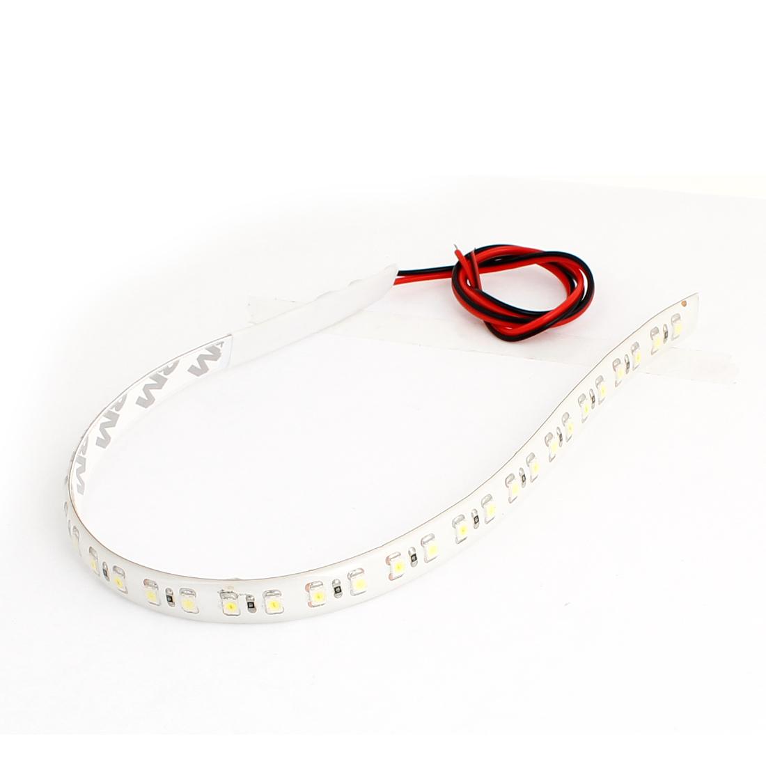 Adhesive Tape White 32 SMD LEDs Auto Car Flexible Flash LED Strip 30cm