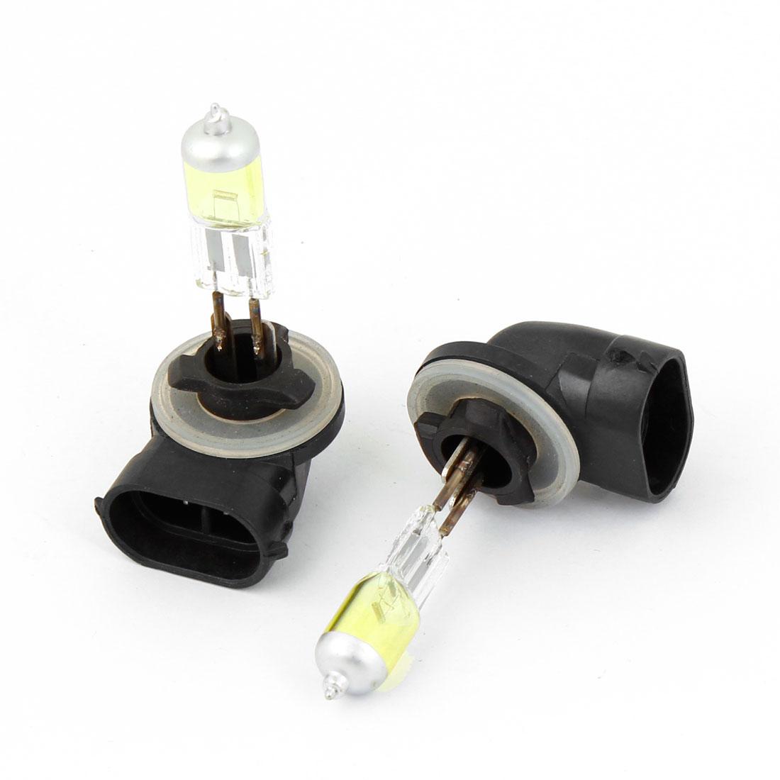 2pcs DC 12V Halogen 881 100W Amber Auto Car Foglight Light