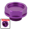 Vehicle Car Purple Metal Engine Oil Filler Fuel Cover Cap 32mm