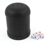 KTV Club Dragon Printed Black Plastic Casual Dice Shaker Cup Set Toy
