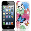 Colorful Butterfly Blooming Flower TPU Soft Case Cover for Apple iPhone 5 5G