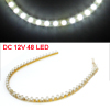 DC 12V Auto Car White 48 LED Decorative Flexible Strip Light Lamp 48cm