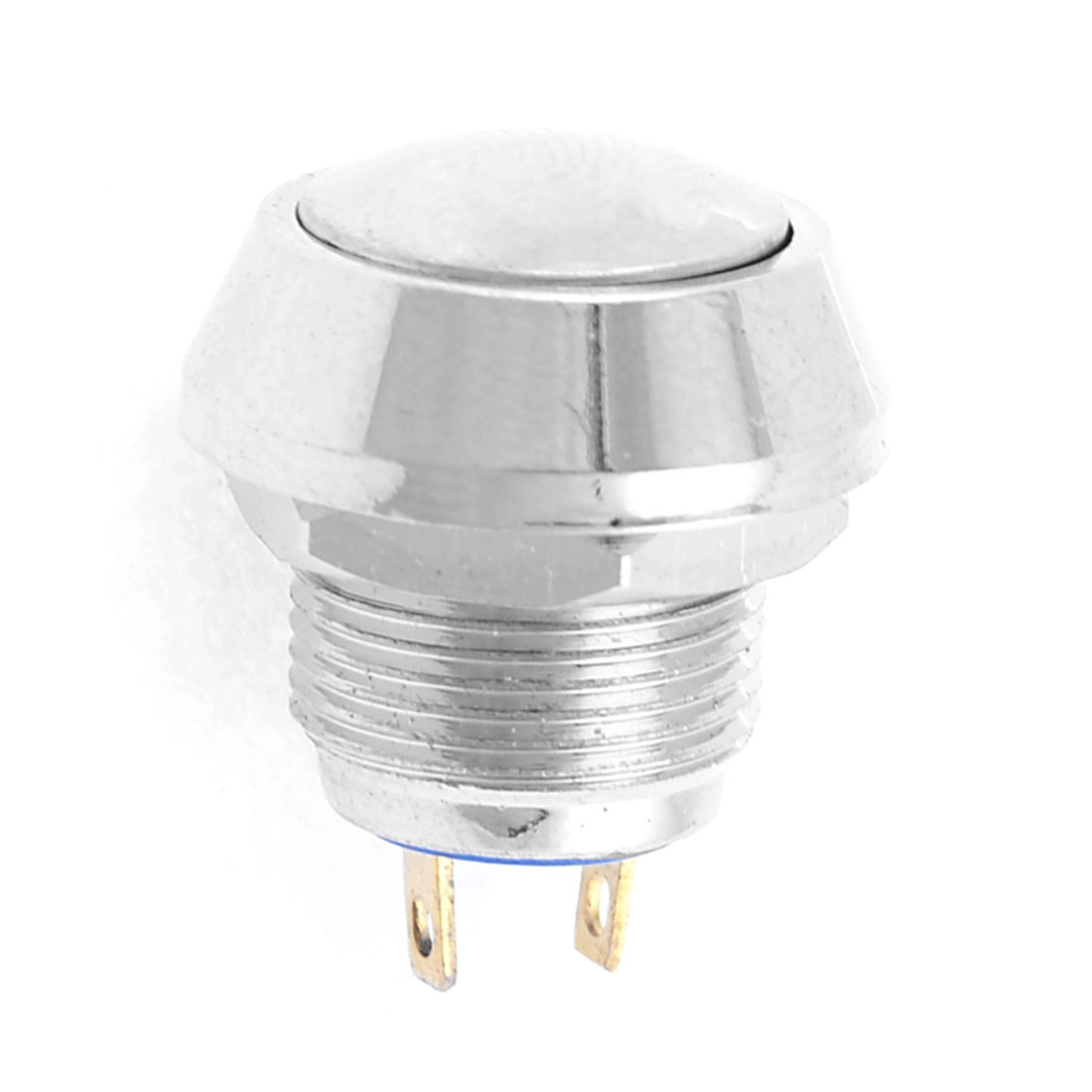 SPST OFF/ON Silver Tone Momentary Push Button Switch N/O AC 250V 3A