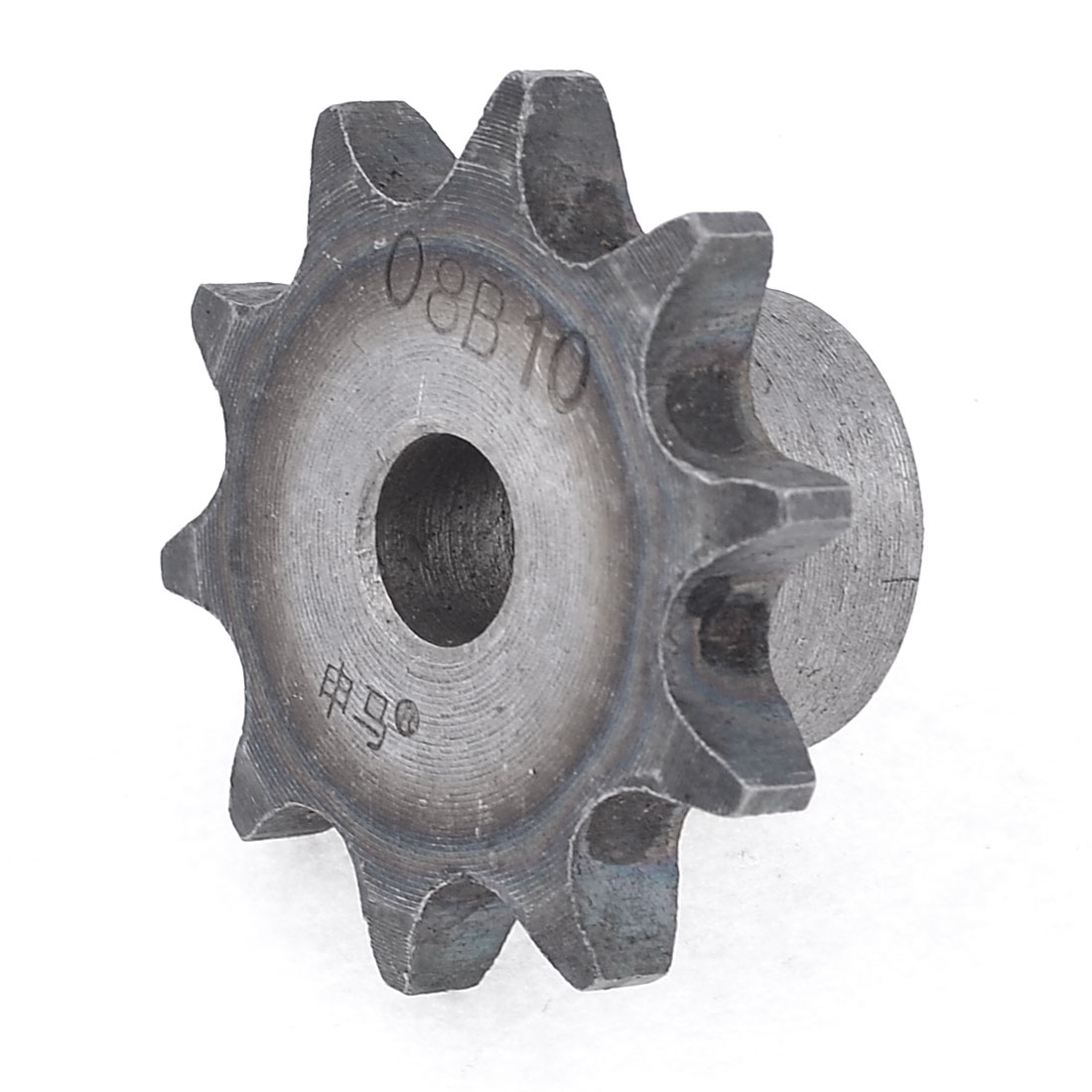 46mm x 28mm Single Row 10 Teeth Simplex Chain Drive Sprocket Silver Tone