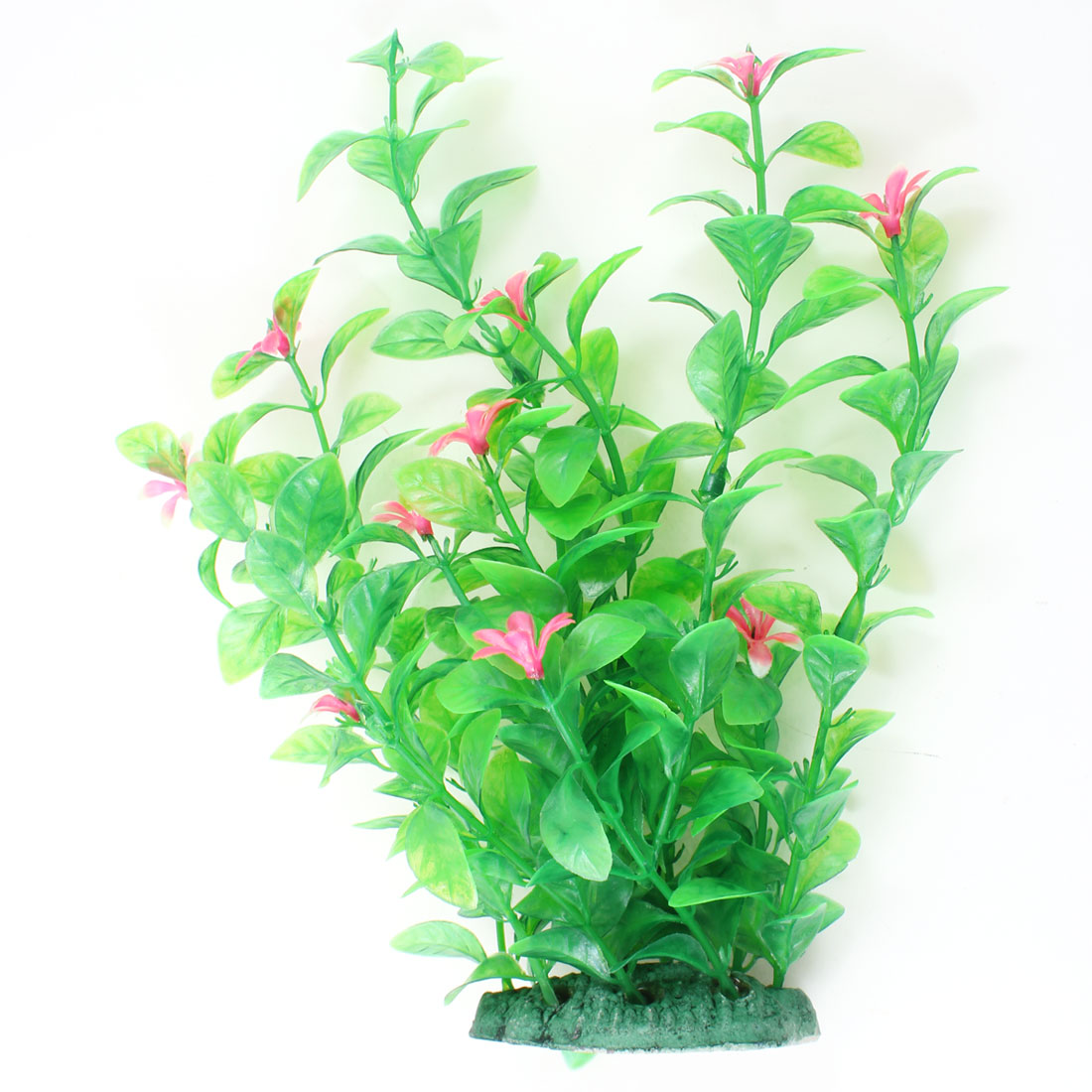 "8.3"" High Green Fuchsia Artificial Manmade Aquarium Decoration Grass Plant"