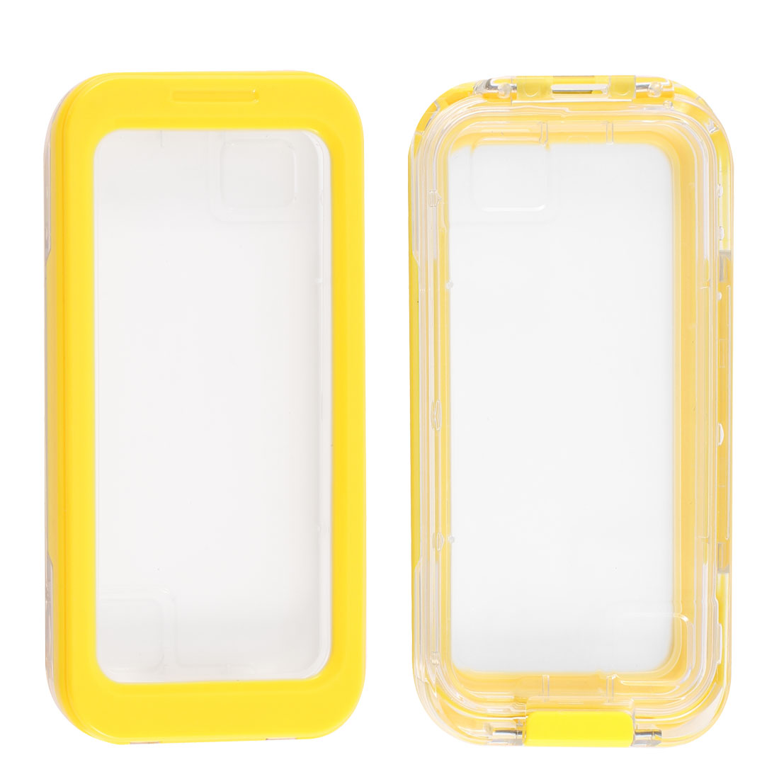 Yellow Waterproof Snow Proof Case Cover Protector for iPhone 4 4G 4S 5 5G 4GS