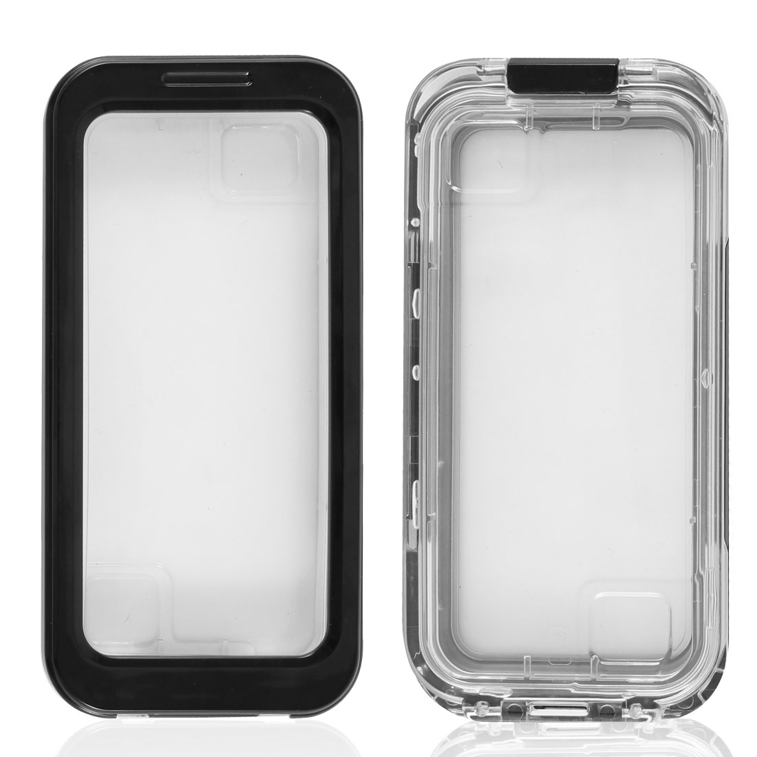 Black Plastic Silicone Waterproof Dirt Proof Case Cover for Apple iPhone 4 4G 4S 5 5G