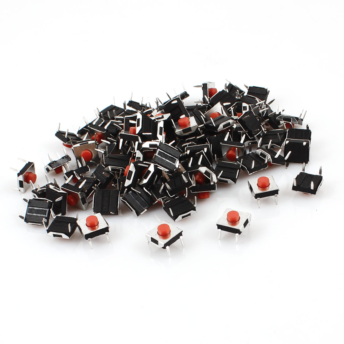 95 Pcs 6x6.5x6mm 4 Pins Momentary DIP Tactile Tact Push Button Switch