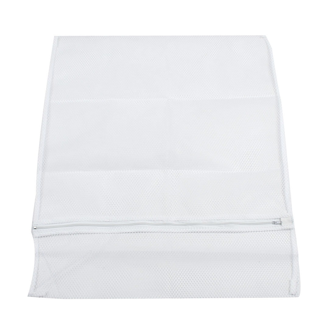 Washing Machine White Nylon Mesh Clothes Socks Washing Bag 57cm x 47cm