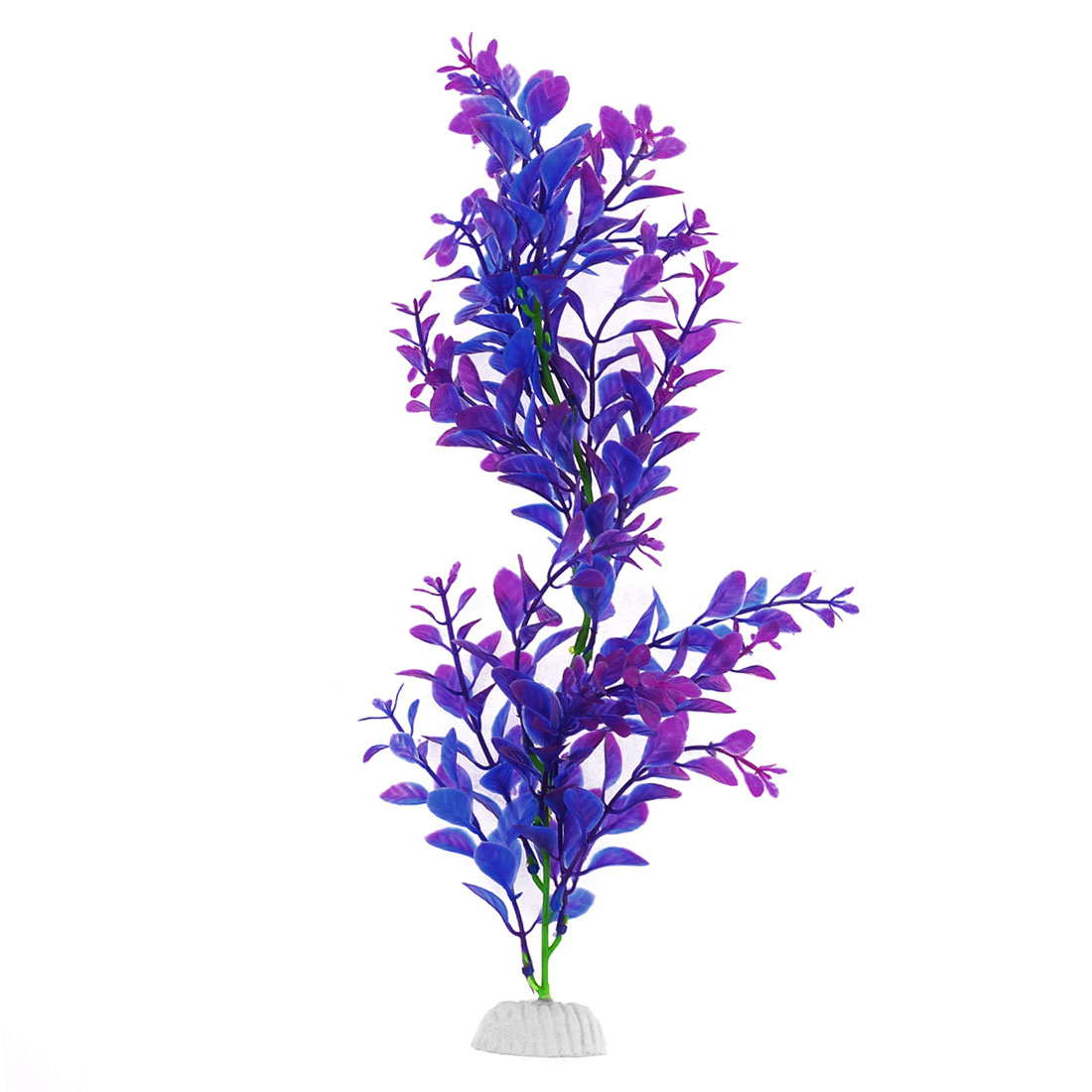 Fish Tank Aquatic Ceramic Base Plant Grass Underwater Decor Purple Blue 30cm