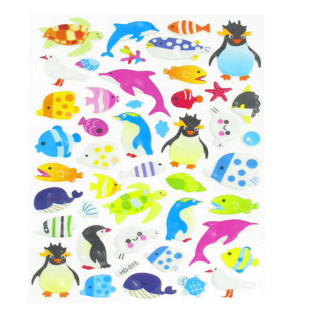 Kid Multicolored Fish Penguin Dove Turtle Craft Scrapbook Stickers