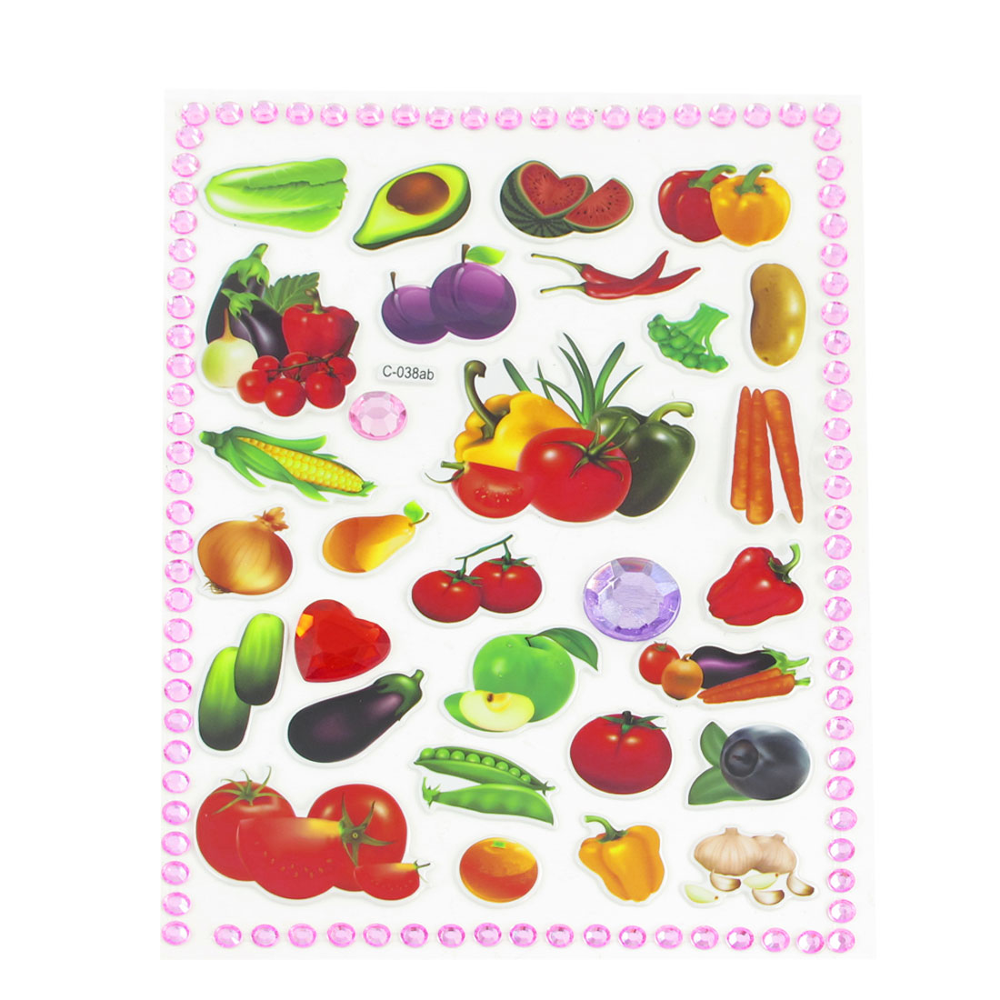 Kid Multicolored Watermelon Potato Onion Craft Scrapbook Stickers