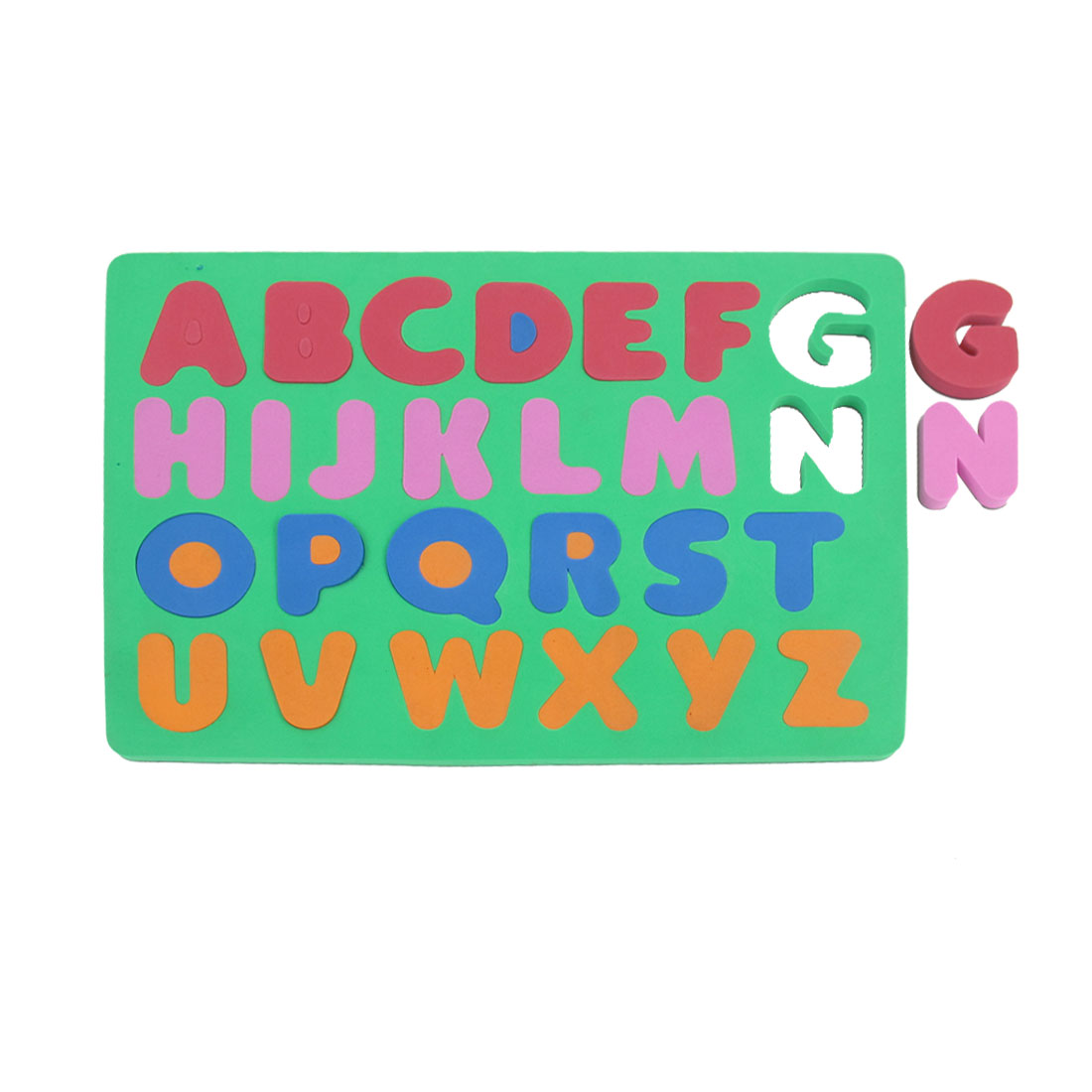 Kids Green Foam 26 English Letters Magnetic Education Jigsaw Puzzle