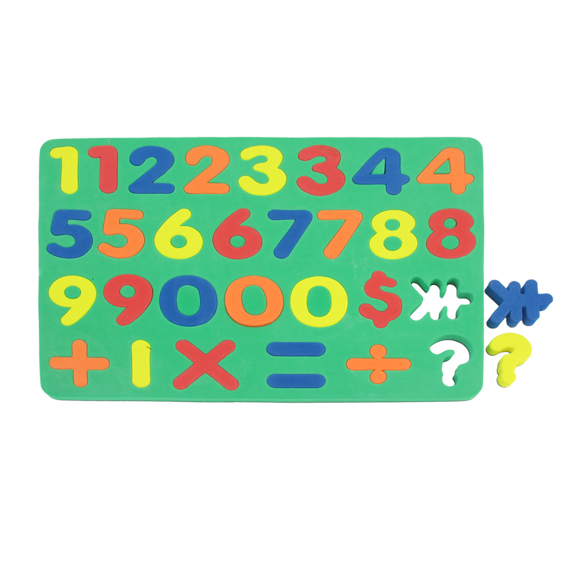 Green Foam Numbers Number Magnetic Jigsaw Puzzle Toy for Children