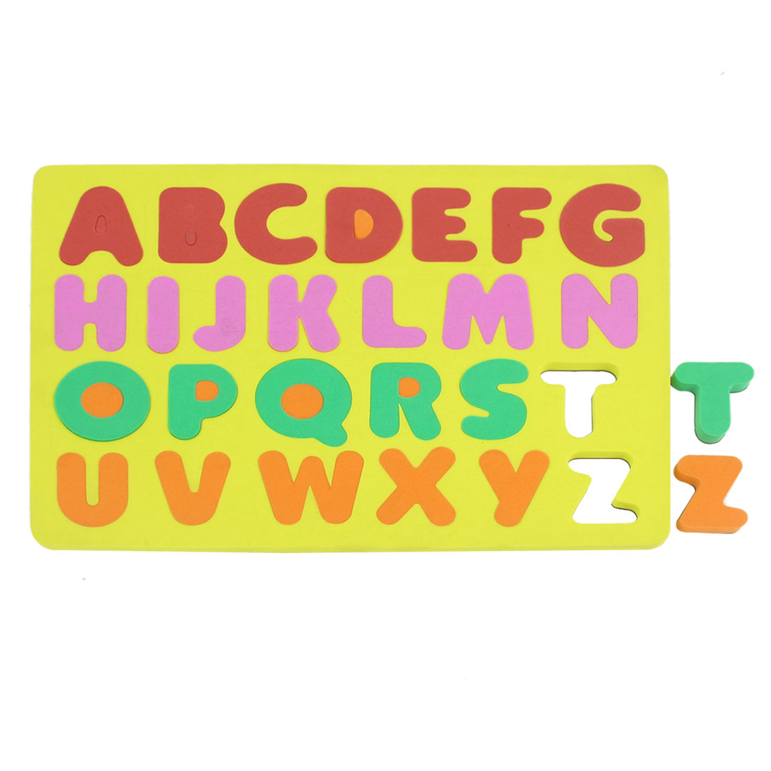 Yellow Foam A-Z English Letters Magnet Jigsaw Puzzle Toy for Children